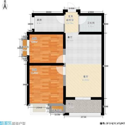 尚品美地城2室0厅1卫1厨78.00㎡户型图