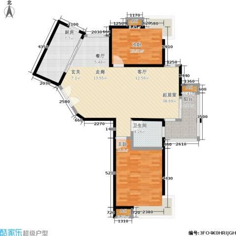 舒诗康庭2室0厅1卫1厨96.00㎡户型图
