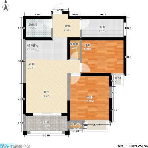 尚品美地城2室0厅1卫1厨87.00㎡户型图