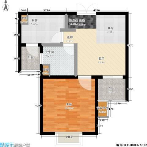 新梅淞南苑1室0厅1卫1厨55.00㎡户型图
