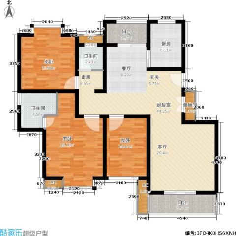 久阳文华府邸3室0厅2卫1厨130.00㎡户型图
