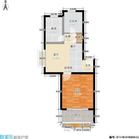 新梅淞南苑1室0厅1卫1厨62.00㎡户型图