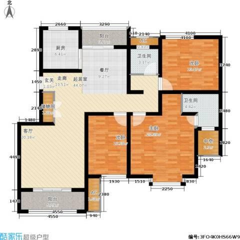 久阳文华府邸3室0厅2卫1厨170.00㎡户型图