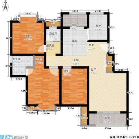 久阳文华府邸3室0厅2卫1厨165.00㎡户型图