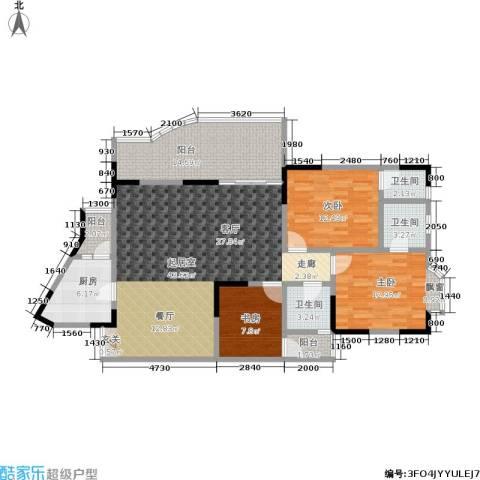 翰林景园3室0厅3卫1厨124.00㎡户型图