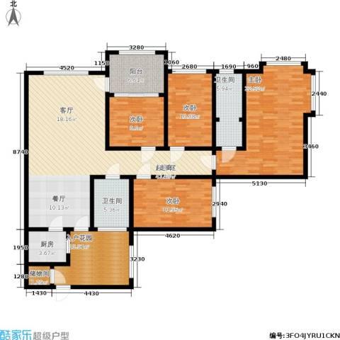 金辉融侨半岛云满庭C区4室0厅2卫1厨184.00㎡户型图