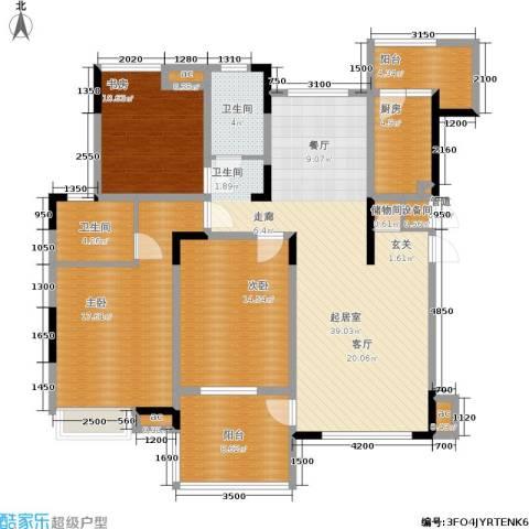 金辉融侨半岛云满庭C区3室0厅2卫1厨115.00㎡户型图