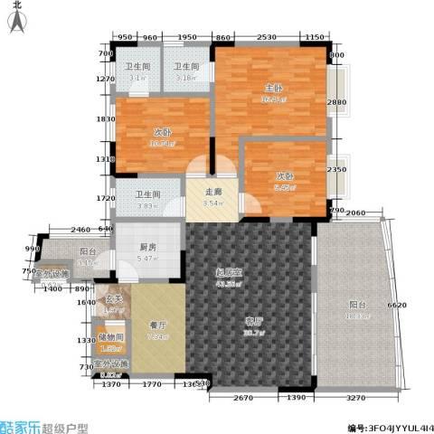 翰林景园3室0厅3卫1厨134.00㎡户型图