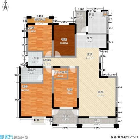 尚品美地城4室0厅2卫1厨165.00㎡户型图