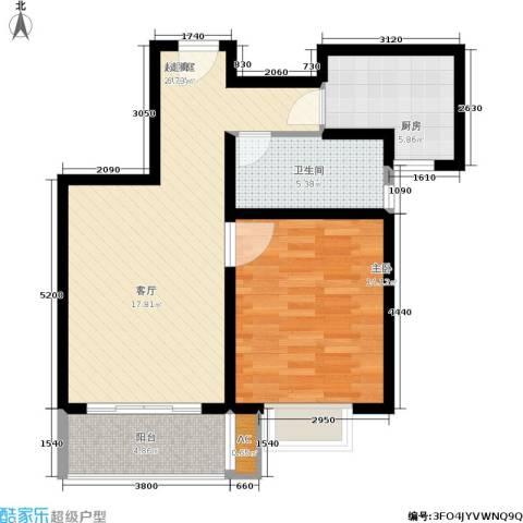 上大阳光乾和园1室0厅1卫1厨64.00㎡户型图