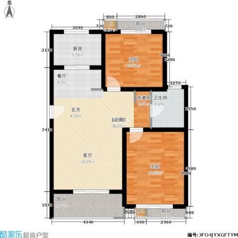 众众德尚世嘉2室0厅1卫1厨87.12㎡户型图