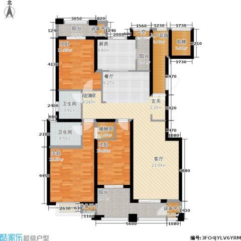 尚品美地城3室0厅2卫1厨143.00㎡户型图