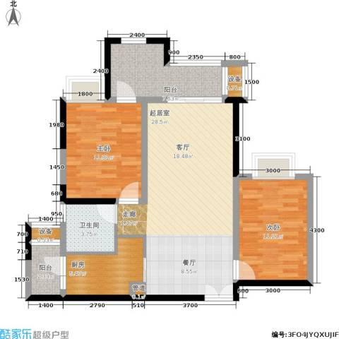 约克郡汀兰2室0厅1卫1厨76.00㎡户型图
