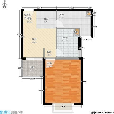 新梅淞南苑1室0厅1卫1厨56.00㎡户型图