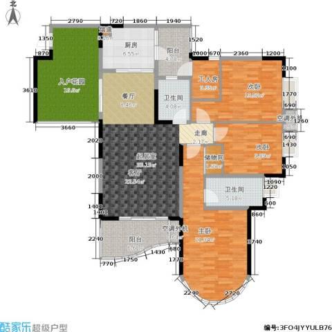 翰林景园3室0厅2卫1厨127.84㎡户型图