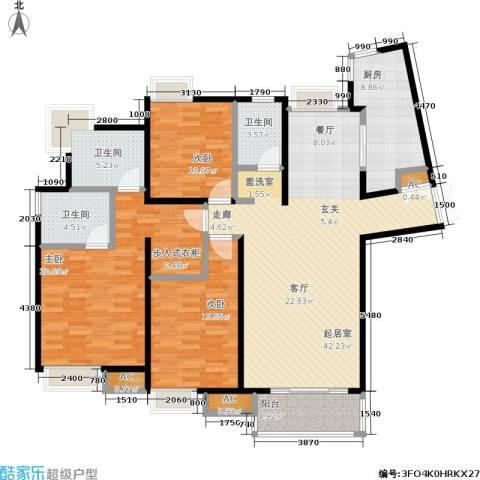 舒诗康庭3室0厅3卫1厨136.00㎡户型图