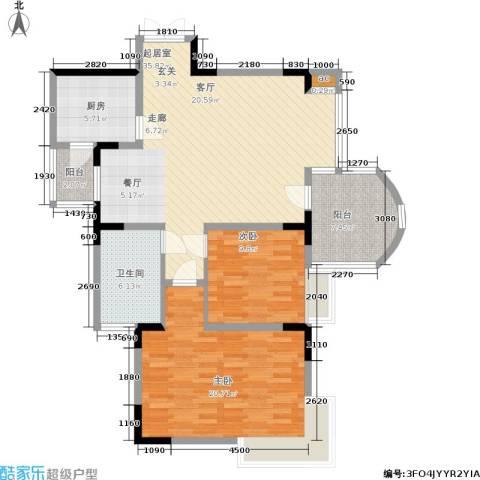 昌龙城市花园2室0厅1卫1厨102.00㎡户型图