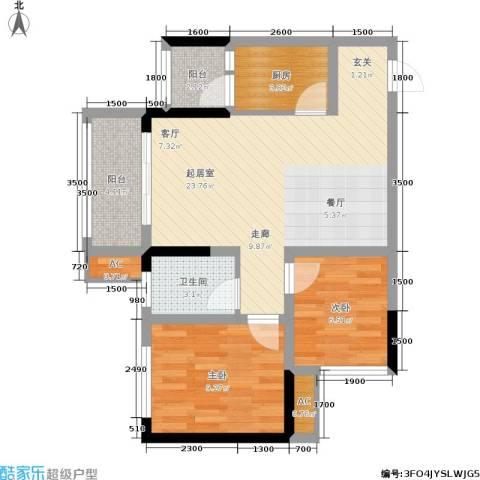 科艺花漾年2室0厅1卫1厨70.00㎡户型图