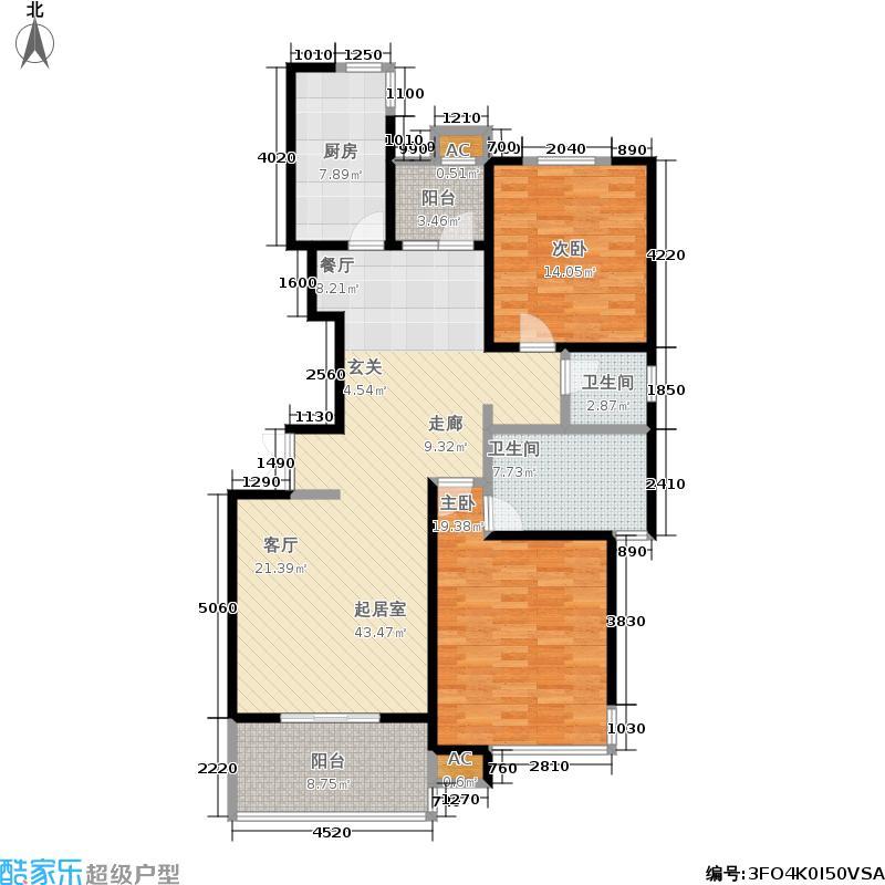 泰府名邸124.47㎡上海面积12447m户型