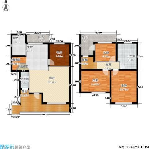众众德尚世嘉4室0厅2卫1厨140.06㎡户型图