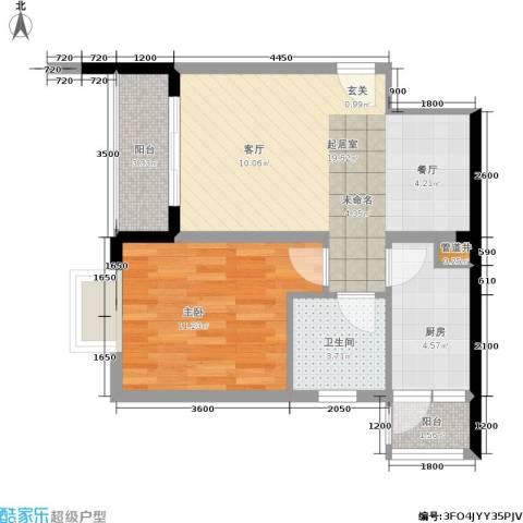 青青雅舍1室0厅1卫1厨64.00㎡户型图