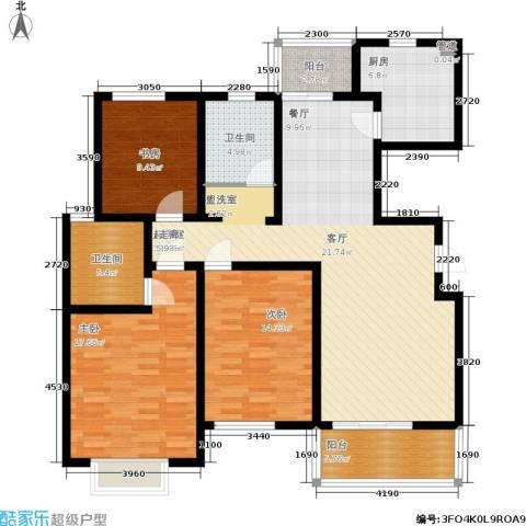 成亿宝盛家苑3室0厅2卫1厨123.00㎡户型图