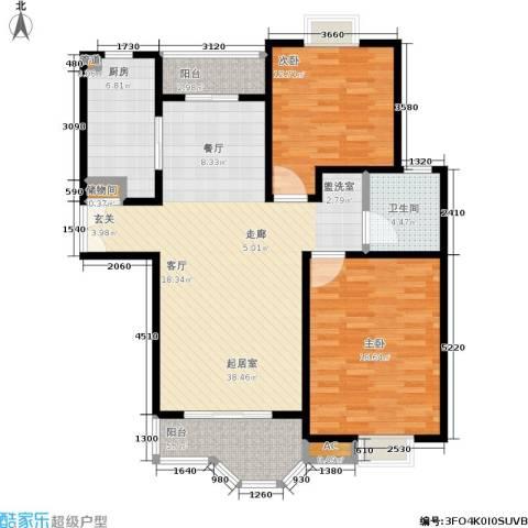 合生城邦三街坊2室0厅1卫1厨103.00㎡户型图