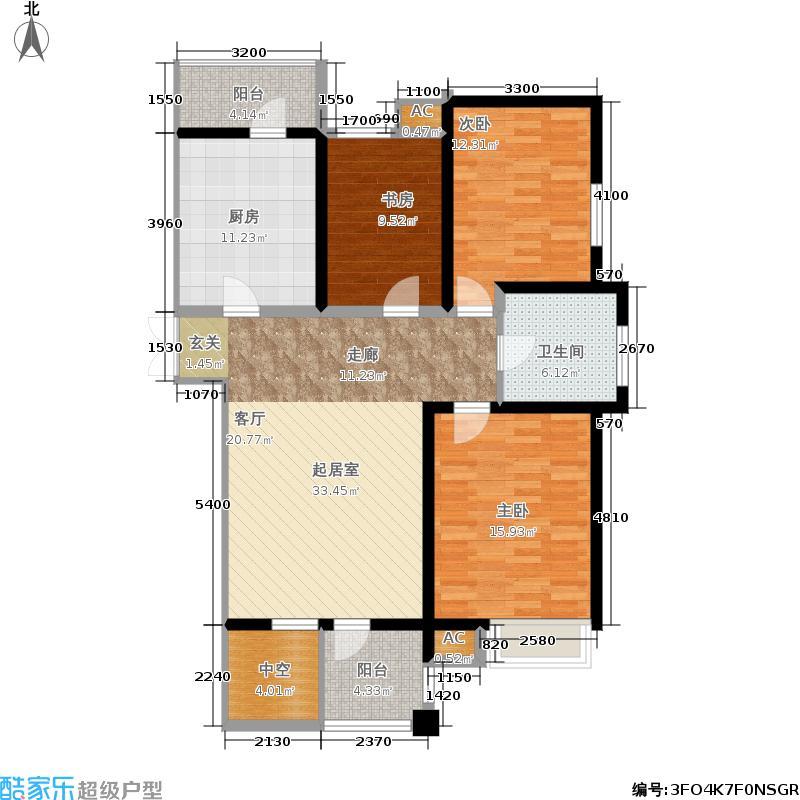 弘泽印象A05 三室二厅一卫 135.19平米户型