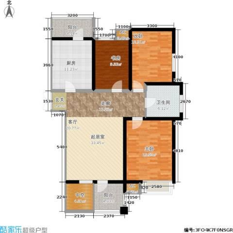 弘泽印象3室0厅1卫1厨145.00㎡户型图