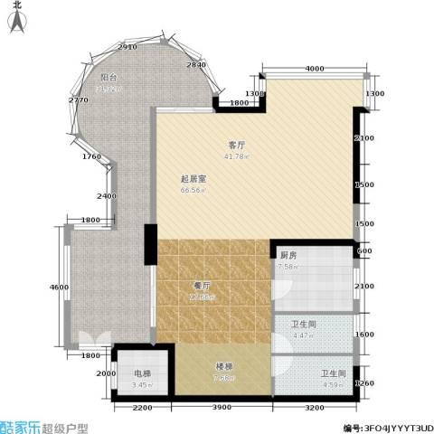 海棠晓月怡景天域2卫1厨236.00㎡户型图