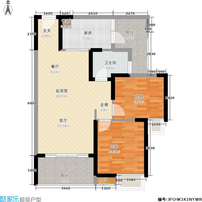 青枫墅园130.00㎡户型2室2厅