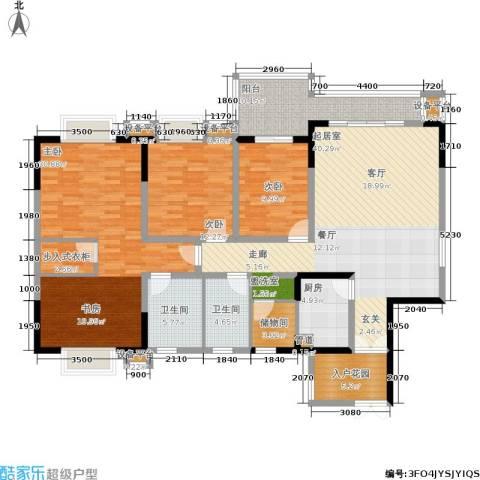 上海城三期天域3室0厅2卫1厨140.00㎡户型图