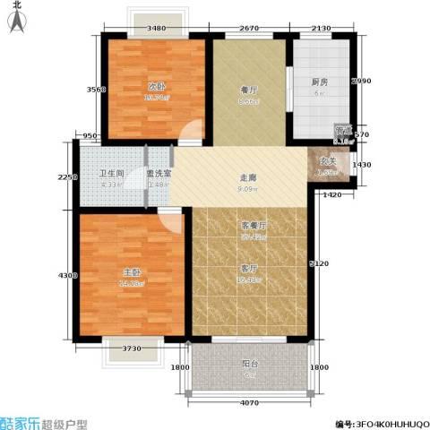 明中龙祥家园2室1厅1卫1厨112.00㎡户型图