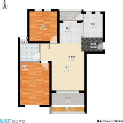 太湖普罗旺斯2室1厅1卫1厨112.00㎡户型图