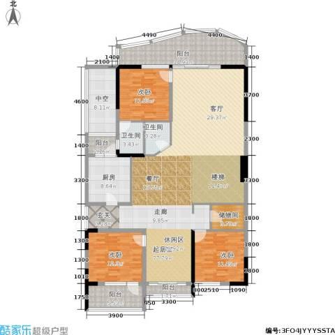 海棠晓月怡景天域3室0厅2卫1厨256.00㎡户型图