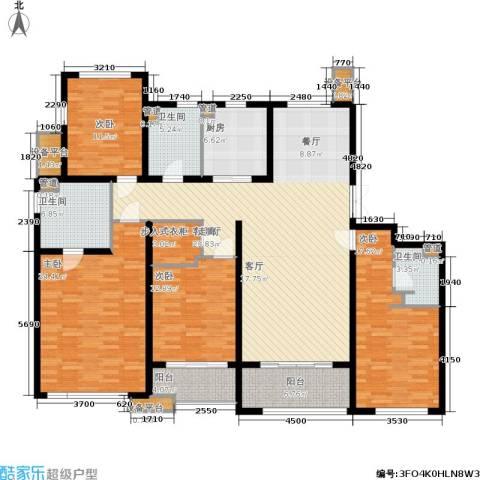 绿地公园壹品4室1厅3卫1厨174.00㎡户型图