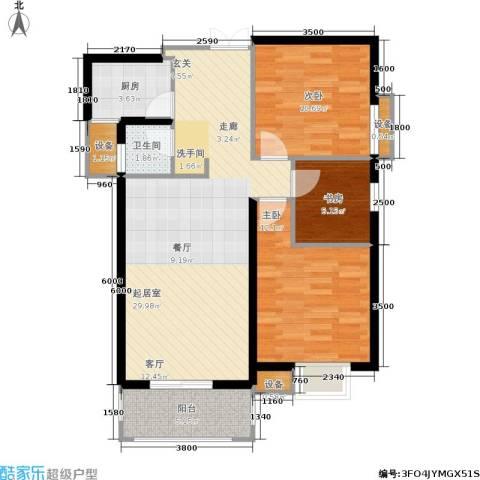 利君未来城3室0厅1卫1厨98.00㎡户型图