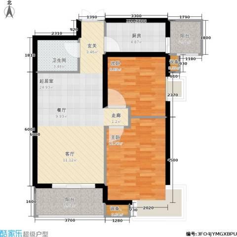 利君未来城2室0厅1卫1厨84.00㎡户型图