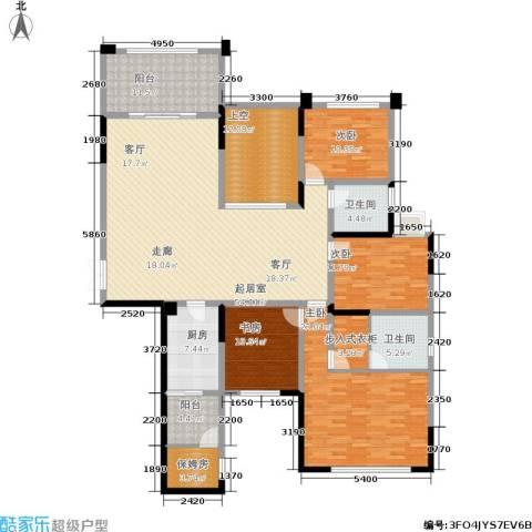 天骄年华4室0厅2卫1厨229.00㎡户型图