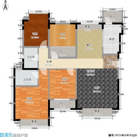 香悦四季(合景溪西里)3室0厅2卫1厨128.00㎡户型图