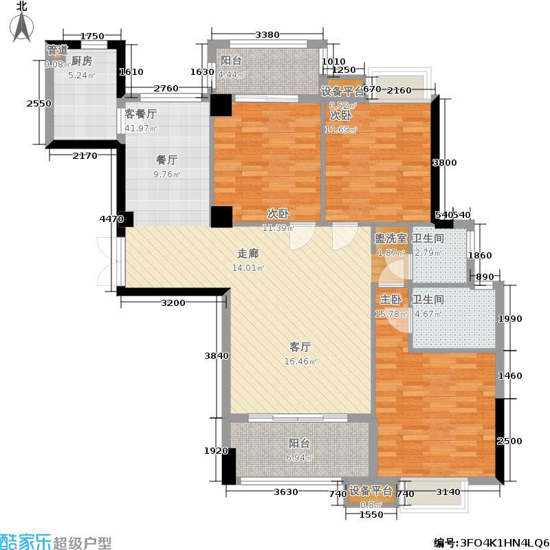 福隆城120.00㎡2/3#楼03、04单元户型