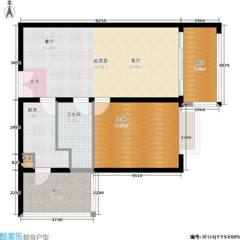 恒通云鼎国际公寓1室0厅1卫1厨78.00㎡户型图