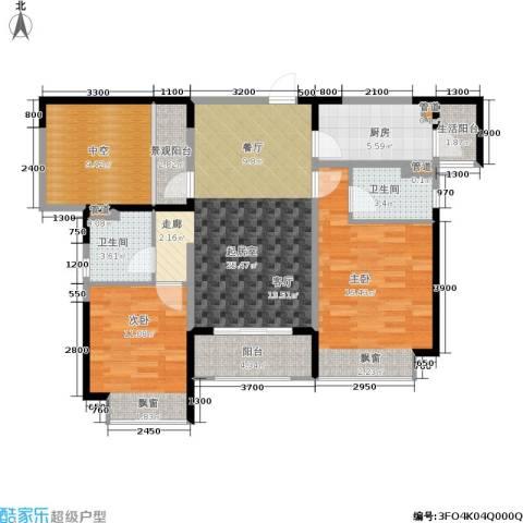 香悦四季(合景溪西里)2室0厅2卫1厨95.00㎡户型图