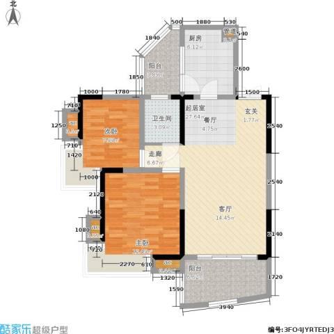 金辉融侨半岛云满庭C区2室0厅1卫1厨71.00㎡户型图