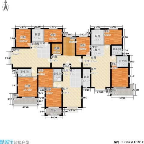 丽景华苑8室3厅4卫3厨391.00㎡户型图