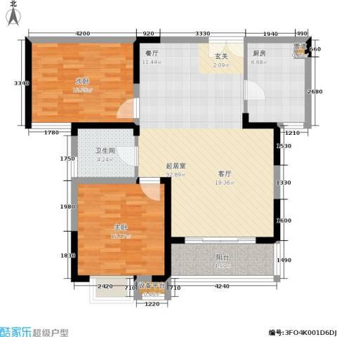 康翔花园2室0厅1卫1厨83.00㎡户型图