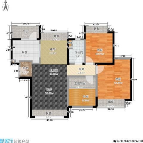 香悦四季(合景溪西里)2室0厅1卫1厨89.00㎡户型图