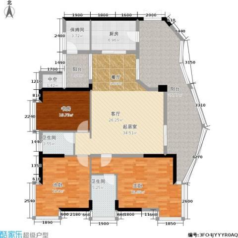 海棠晓月怡景天域3室0厅2卫1厨184.00㎡户型图