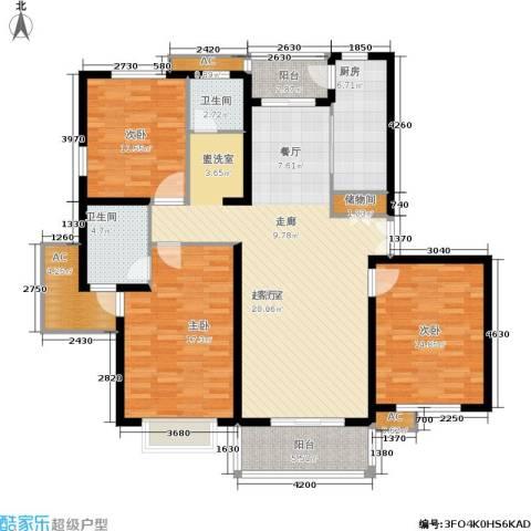 久阳文华府邸3室0厅2卫1厨163.00㎡户型图