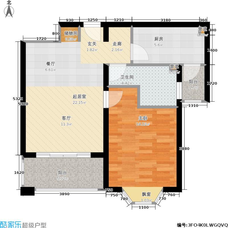 连城苑15.00㎡面积1500m户型